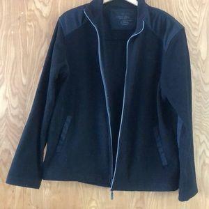 Calvin Klein Full Zip Tech Fleece Jacket BLACK